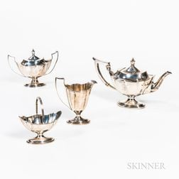 "Gorham ""Plymouth"" Four-piece Sterling Silver Tea Set"