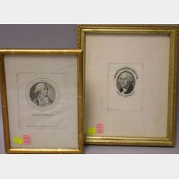 Two Framed George Washington Engravings