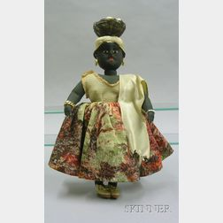 Hand-Crafted Native Black Cloth Lady Doll