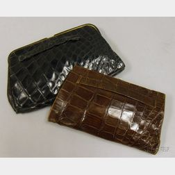 Two Vintage Alligator Clutches