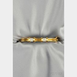 18kt Gold and Diamond Bracelet, Tiffany & Co.