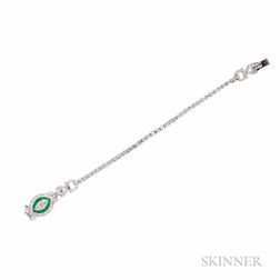 Platinum, Emerald, and Diamond Bracelet, Sophia D.