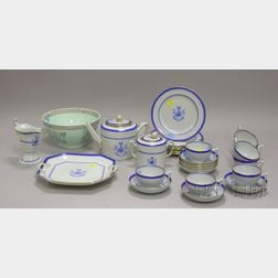 Twenty-eight Piece Copeland/Spode Newburyport Pattern Ironstone Partial Tea Service and an Adams Calyx Ware Bow...