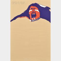 Fritz Scholder (Native American, 1937-2005)      War Cry