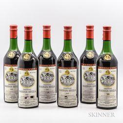 Chateau Rauzan Segla 1966, 6 bottles