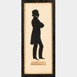 Full-length Hollow-cut Silhouette of Charles Gifford