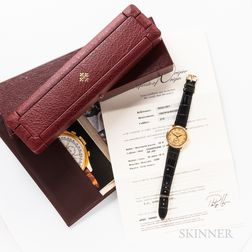 Patek Philippe 18kt Gold Reference 5022J Wristwatch with Box and Papers