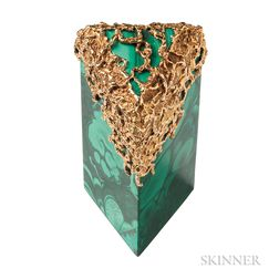 18kt Gold and Malachite Box, Arthur King
