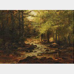 William Samuel Horton (American, 1865-1936)      Landscape with Stream