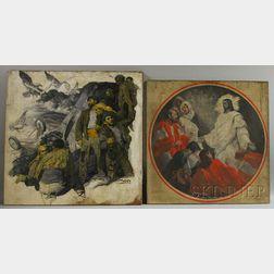 Edmund Franklin Ward (American, 1892-1991)      Two Works: Sunrise