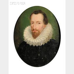 English or Dutch School, 17th Century Style      Portrait of a Gentleman, Possibly Sir Francis Drake