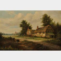 George Mulready Freezor (British, 1865-1962)      Country Farmstead.