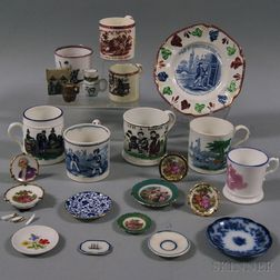 Group of Cups and Miniature Tableware