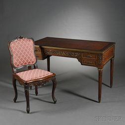 Louis XVI-style Ormolu-mounted Parquetry Writing Desk