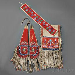 Three Blackfoot Horse Regalia Items