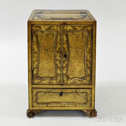 Export Tabletop Gilt Lacquer Cabinet