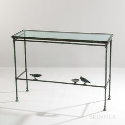 "Patinated Bronze ""Console aux Deux Oiseaux"" Attributed to Diego Giacometti (Swiss, 1902-1985)"