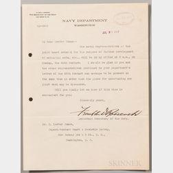 Roosevelt, Franklin Delano (1882-1945) Seventeen Typed Letters Signed, 1916-1919.