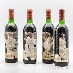 Chateau Mouton Rothschild 1978, 4 bottles