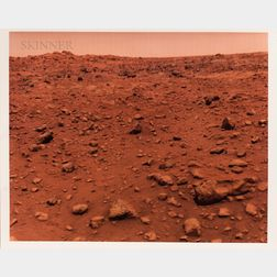 Taken by a Camera Aboard the Robotic Viking 1 Spacecraft: The first color photograph taken on the surface of Mars, the Red Planet, Viki