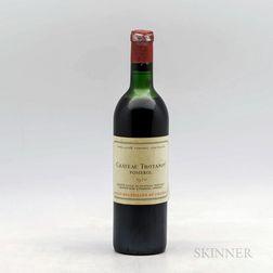 Chateau Trotanoy 1970, 1 bottle