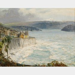 Guy Lipscombe (British, fl. 1908-1937)      Stormy Weather, St. Mawes at Cornwell