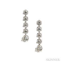 18kt White Gold and Diamond Earrings, Roberto Coin