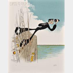 Al (Albert) Hirschfeld (American, 1903-2003)      Buster Keaton in The Navigator