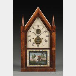 Silas B. Terry Mahogany Balance Wheel Steeple Clock