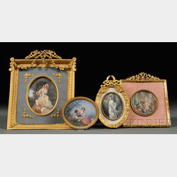 Four Portrait Miniatures