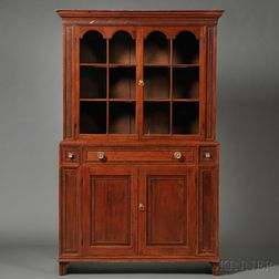 Federal Glazed Two-part Cupboard