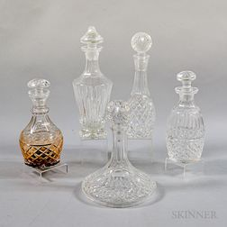 Five Waterford Crystal Decanters