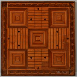 Late Victorian Double-sided Parquet Game Board