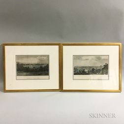 Two Framed D. Appleton & Co. Hand-colored Engravings
