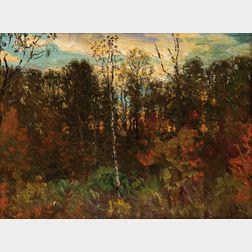 John Joseph Enneking (American, 1841-1916)      September Woods
