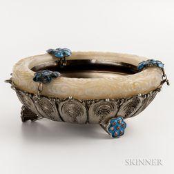 Small Silver Filigree Tripod Bowl