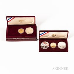 Five 1983 and 1984 Los Angeles Olympics Commemorative Coins