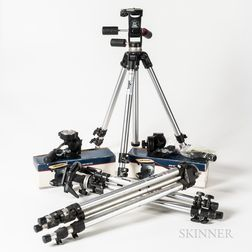 Three Camera Tripods and Two Heads