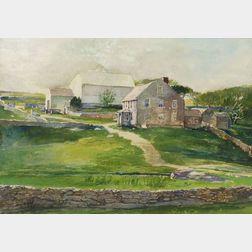 John LaFarge (American, 1835-1910)  Stephen Peckham Barker's Farm House, Paradise Avenue, Middleton, Rhode Island, Circa 1884