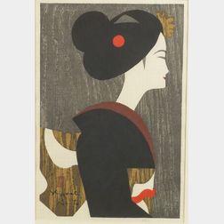 Saito Kiyoshi:  Portrait of a Girl in Profile