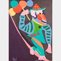 Karel Appel (Dutch, 1921-2006)    Monkey with Balloons