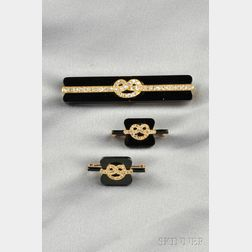 Antique 18kt Gold, Onyx, and Diamond Suite, Tiffany & Co.