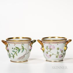 Two Royal Copenhagen Flora Danica Wine Coolers