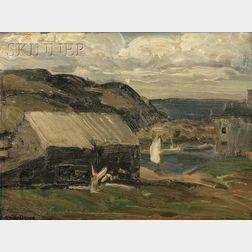 George Wesley Bellows  (American, 1882-1925)      Fresh Sky