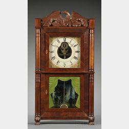 Silas B. Terry Mahogany Empire Shelf Clock
