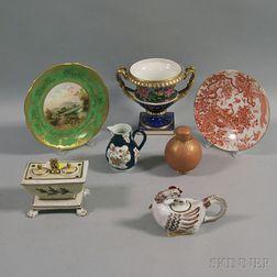 Seven European Porcelain Items
