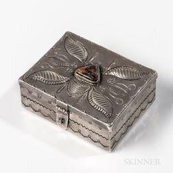 Small Navajo Silver Box