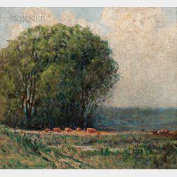 John Joseph Enneking (American, 1841-1916)      Cattle Landscape