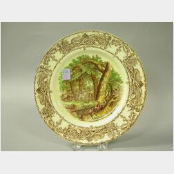 Clarice Cliff Designed Royal Staffordshire Landscape Plate.