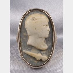 14kt Gold and Hardstone Cameo Ring